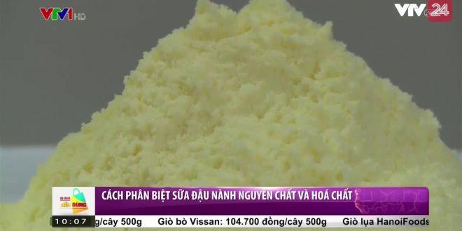 Tràn lan sữa đậu nành giá rẻ được pha từ hóa chất