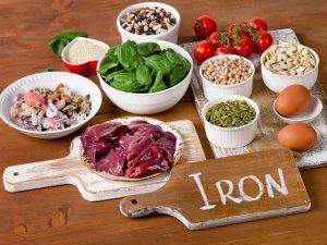 Một số thực phẩm giàu sắt.