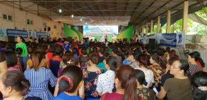 Phiên chợ truyền thông nói không với thực phẩm bẩn thu hút đông đảo chị em phụ nữ tham gia