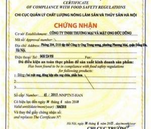 Mẫu Đơn đề nghị Cấp Giấy chứng nhận cơ sở đủ điều kiện an toàn thực phẩm
