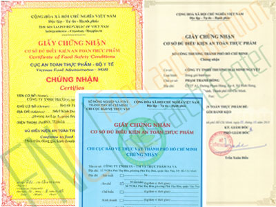 Tư vấn xin giấy chứng nhận vệ sinh an toàn thực phẩm