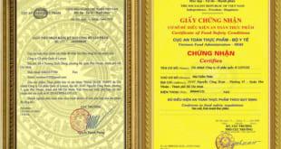 Thủ tục xin Giấy chứng nhận an toàn thực phẩm Bộ Y Tế